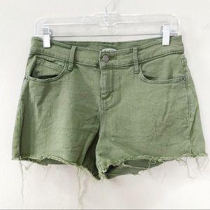 Old Navy Boyfriend Raw Hem Denim Shorts Green 2